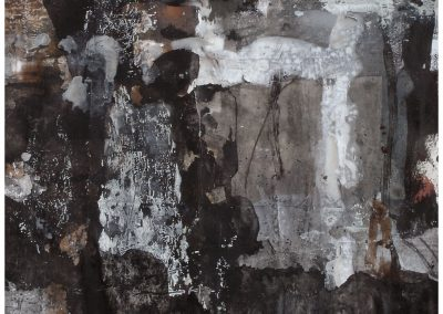 Untitled (No 2004-256) / mixed technique on paper / 47 × 47 cm / 2004
